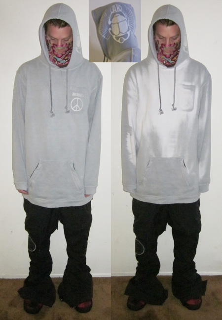 "A Tall ""Hyperchromic hoodie "" Grey/White"