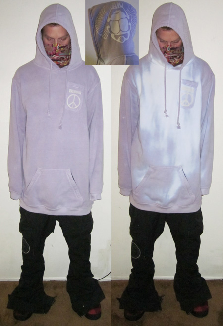 "A Tall ""Hyperchromic hoodie "" Purple/White-XLT"