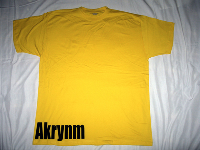 """Simple"" Tall tee Black/Yellow-4XLT"