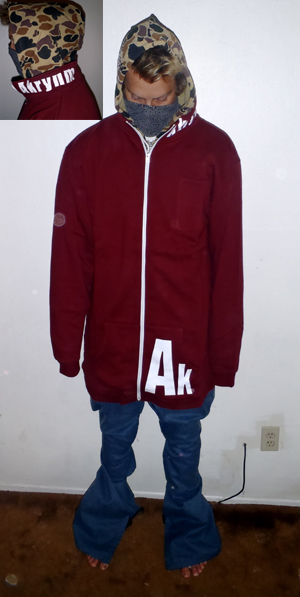 Tall full-zip sweatshirt-Maroon XLT