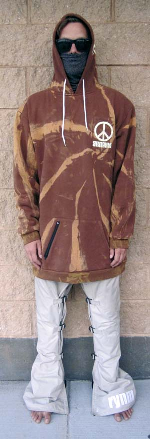 "A Tall ""Bleach Tie Dye""-XLT Brown"