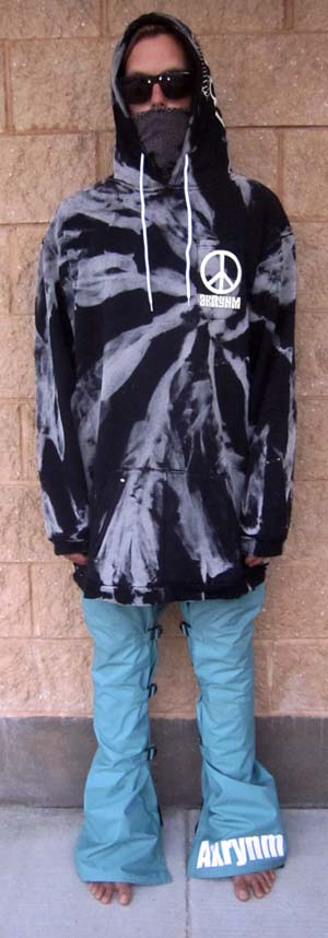 "A Tall ""Bleach Tie Dye""-XLT Black - Click Image to Close"