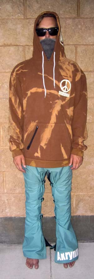"A ""Bleach Tie Dye""-XL Brown"