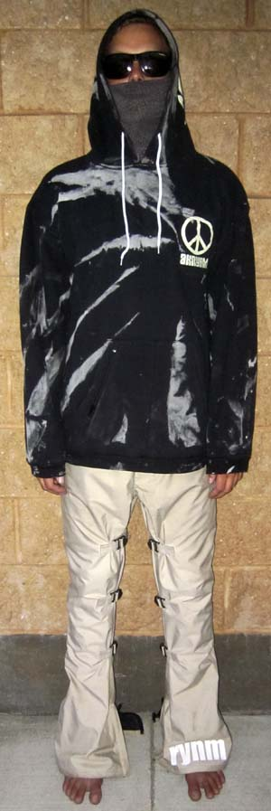"A ""Bleach Tie Dye""-XL Black"